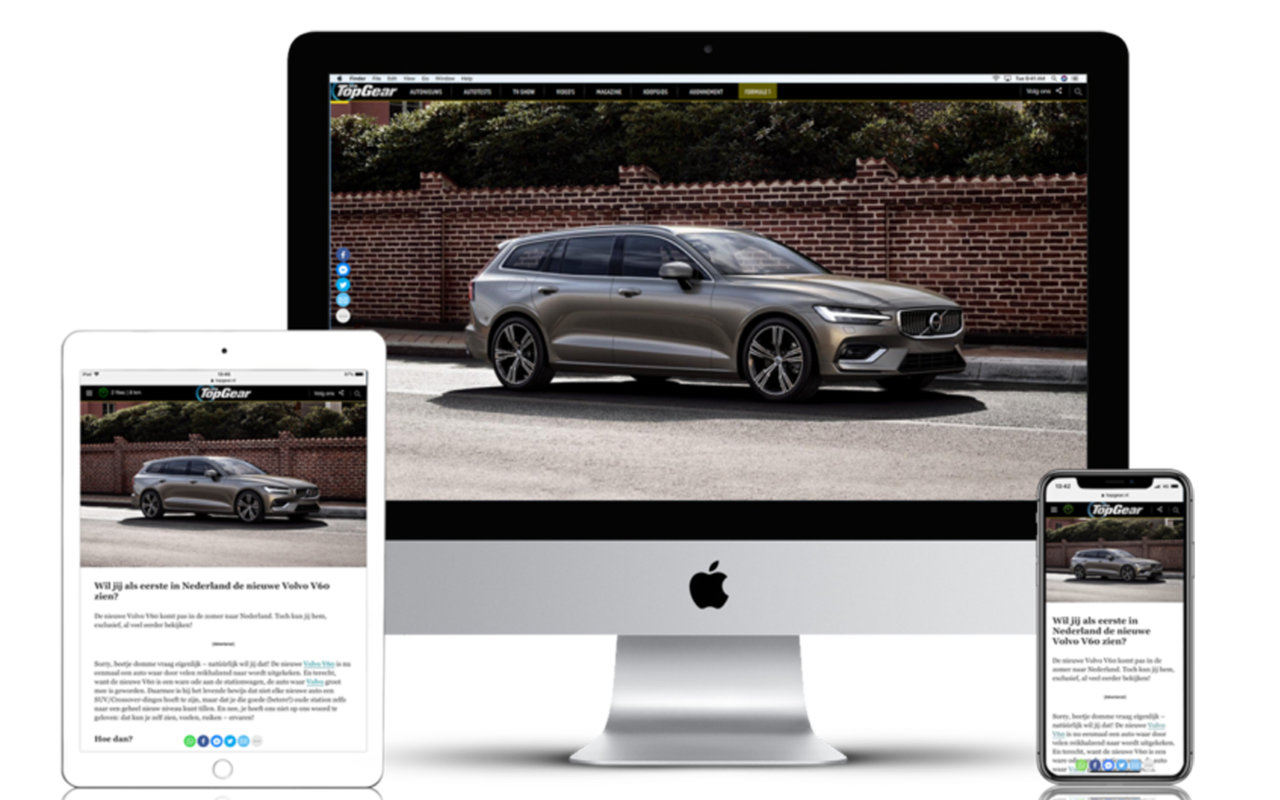 Volvo by TopGear portfolio head
